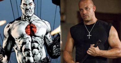 Vin Diesel jako Bloodshot na pierwszym zdjęciu